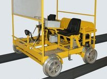 Self-propelled trolley for ultrasonic rail inspection AVICON-16